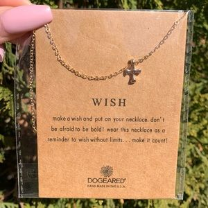 "Gold & Silver Tone ""Wish"" Necklace"